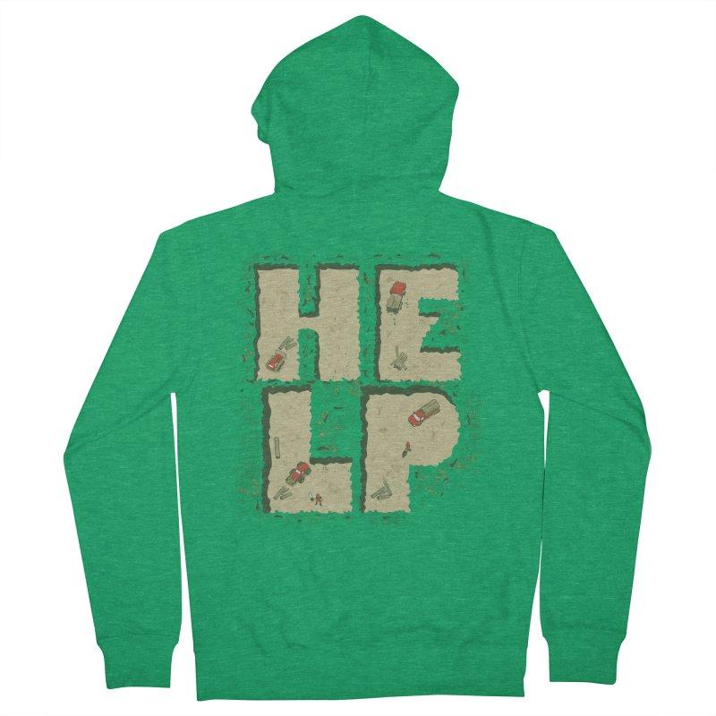 HELP Men's Zip-Up Hoody by cmatos's Artist Shop