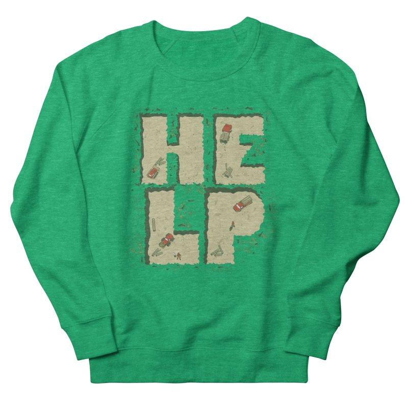 HELP Men's Sweatshirt by cmatos's Artist Shop