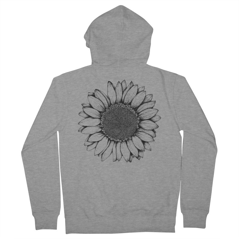 Sunflower Men's Zip-Up Hoody by cmatthesart's Artist Shop
