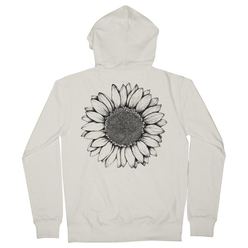 Sunflower Men's Zip-Up Hoody by cmatthesart's Artist Shop
