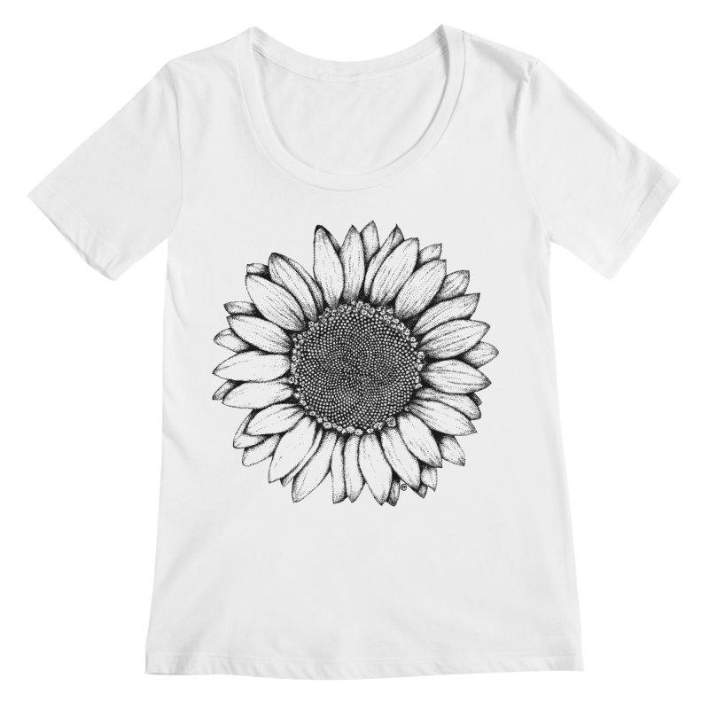 Sunflower Women's Scoopneck by cmatthesart's Artist Shop