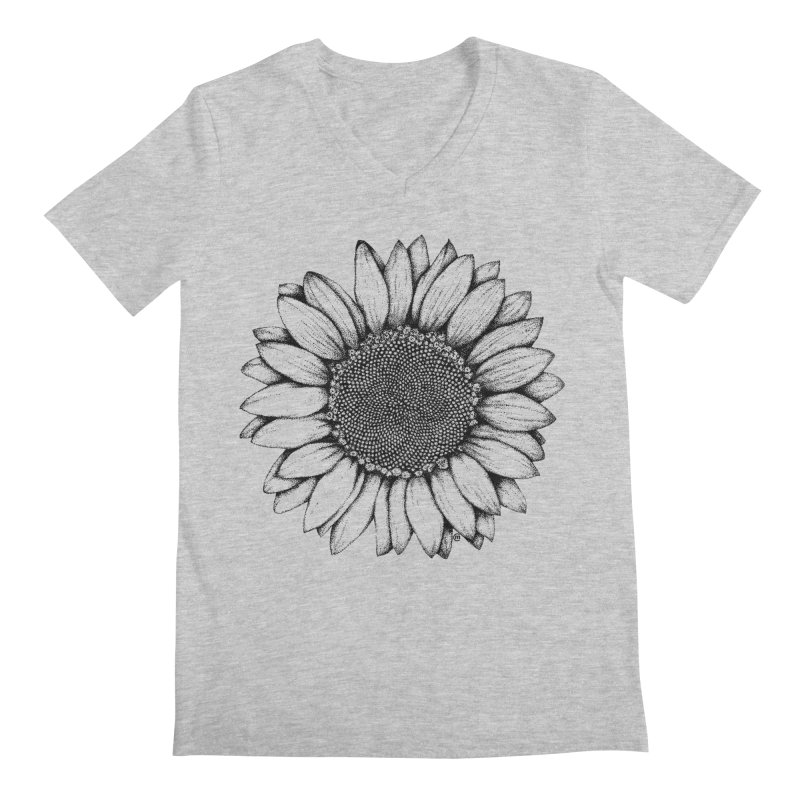 Sunflower Men's V-Neck by cmatthesart's Artist Shop