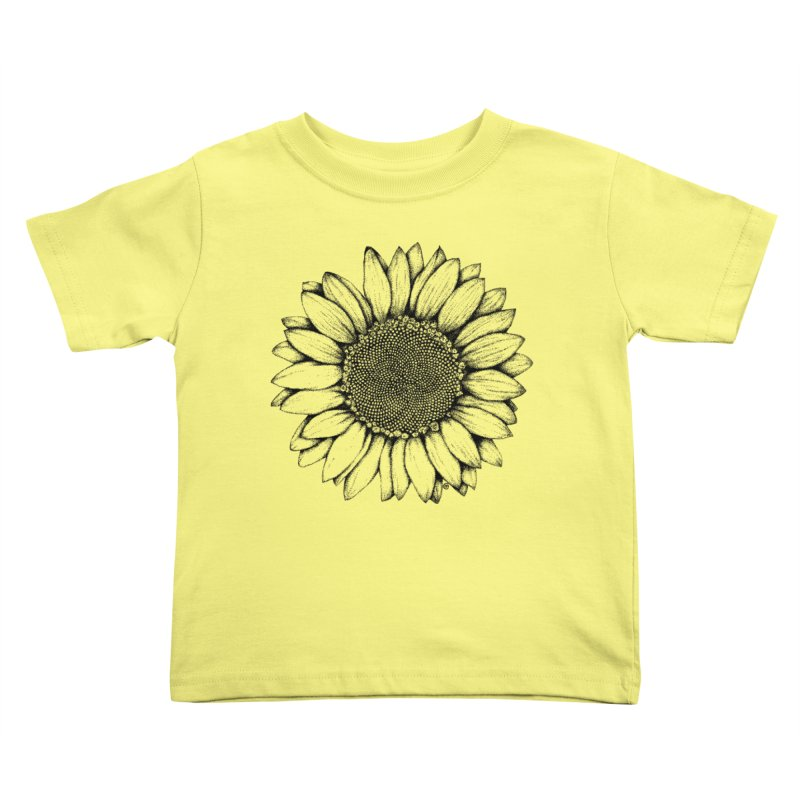 Sunflower Kids Toddler T-Shirt by cmatthesart's Artist Shop