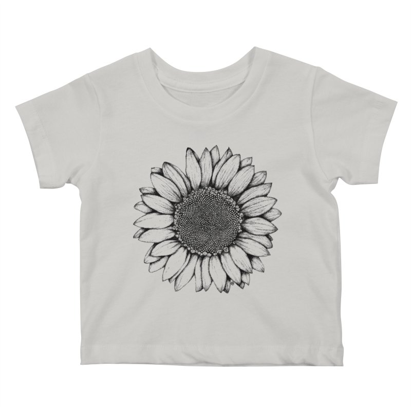 Sunflower Kids Baby T-Shirt by cmatthesart's Artist Shop