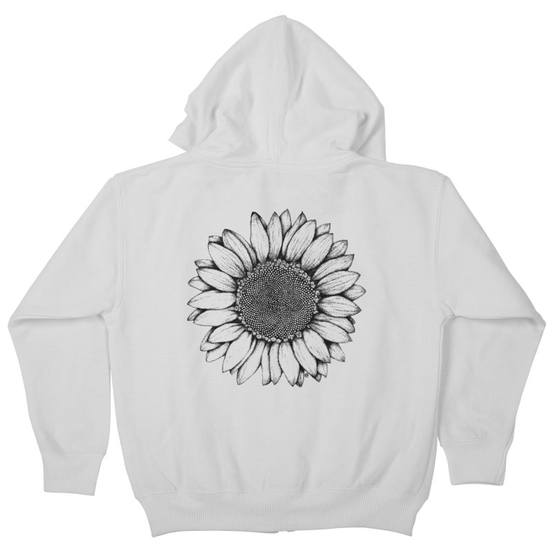 Sunflower Kids Zip-Up Hoody by cmatthesart's Artist Shop