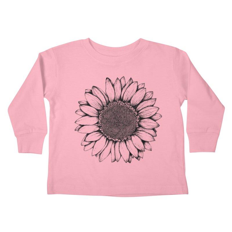 Sunflower Kids Toddler Longsleeve T-Shirt by cmatthesart's Artist Shop