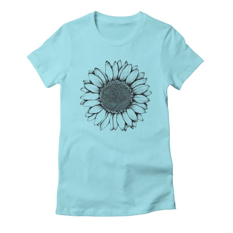 Sunflower Women's Fitted T-Shirt by cmatthesart's Artist Shop
