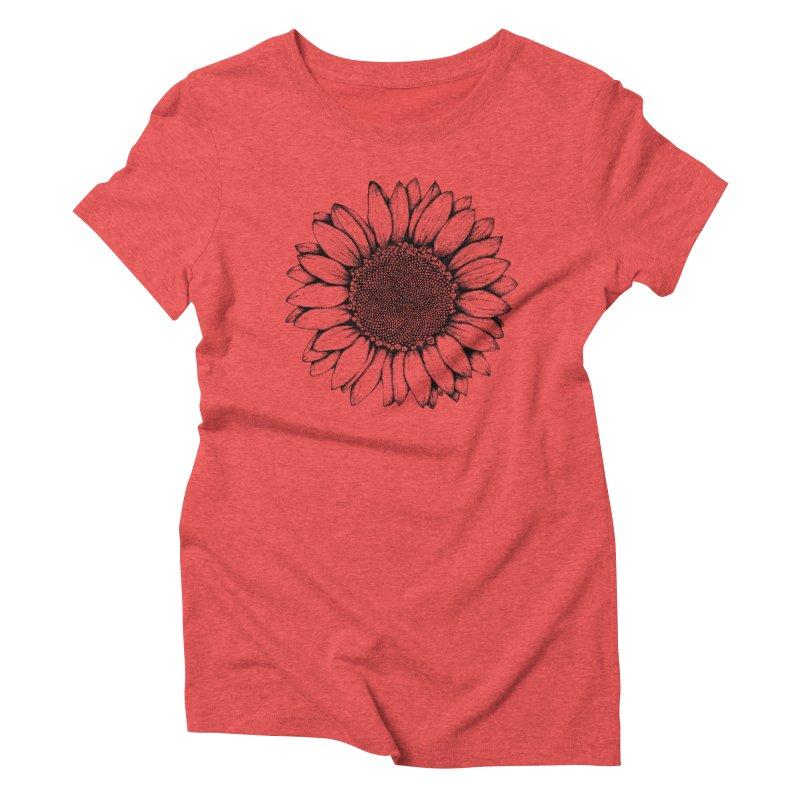 Sunflower Women's Triblend T-Shirt by cmatthesart's Artist Shop
