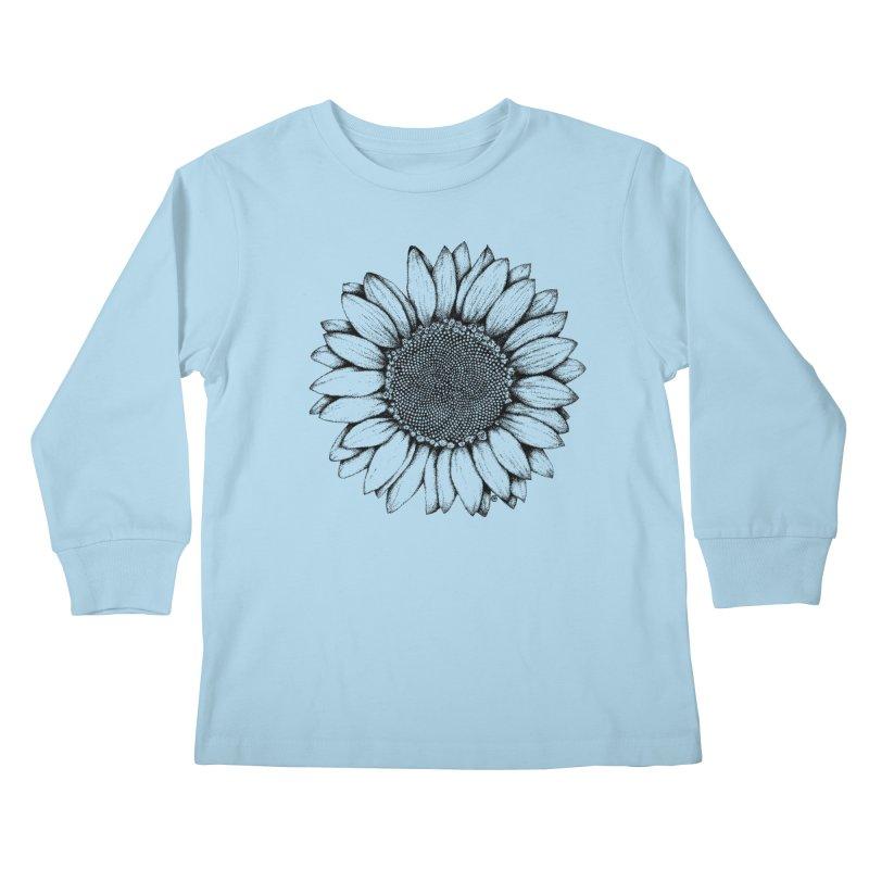 Sunflower Kids Longsleeve T-Shirt by cmatthesart's Artist Shop