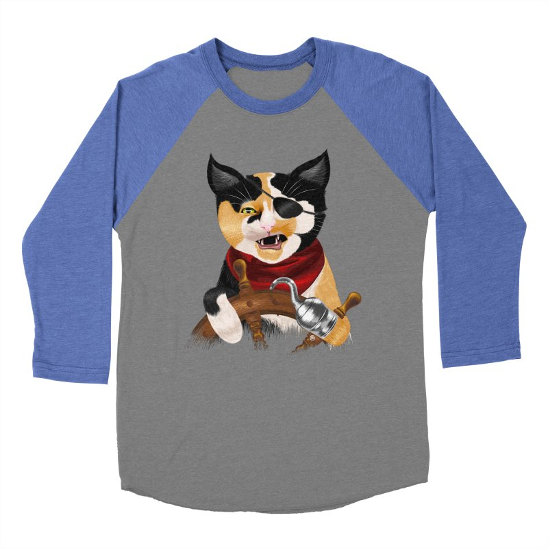 Purrrrate! Men's Baseball Triblend T-Shirt by cmatthesart's Artist Shop