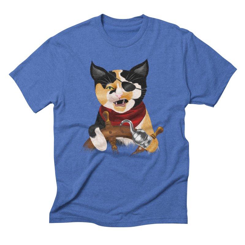Purrrrate! Men's Triblend T-shirt by cmatthesart's Artist Shop
