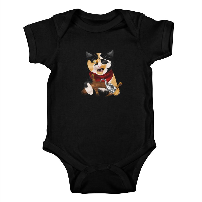 Purrrrate! Kids Baby Bodysuit by cmatthesart's Artist Shop