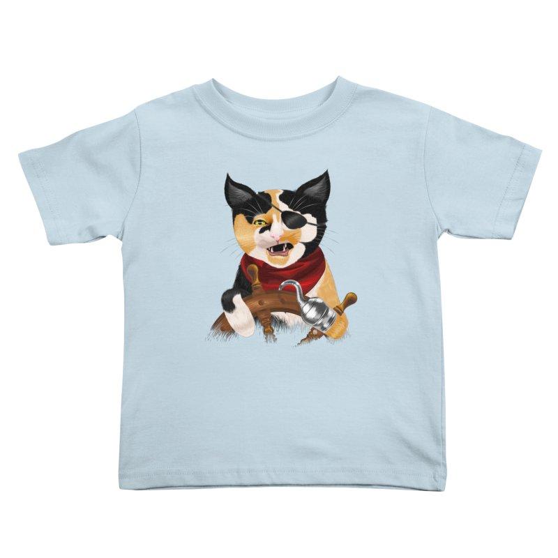 Purrrrate! Kids Toddler T-Shirt by cmatthesart's Artist Shop