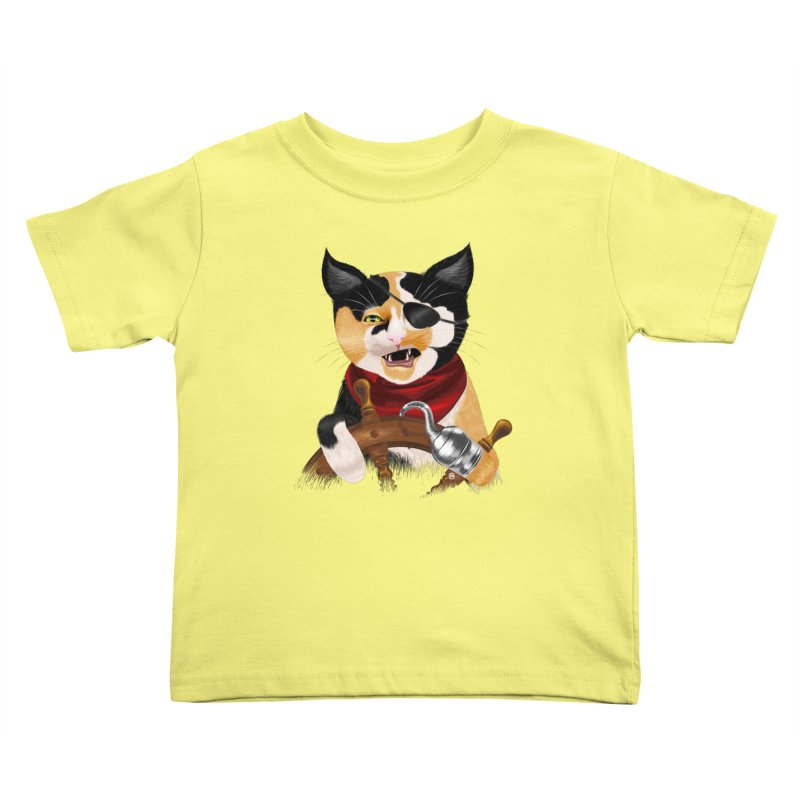 Purrrrate! Kids Toddler T-Shirt by cmatthesart's Artist Shop