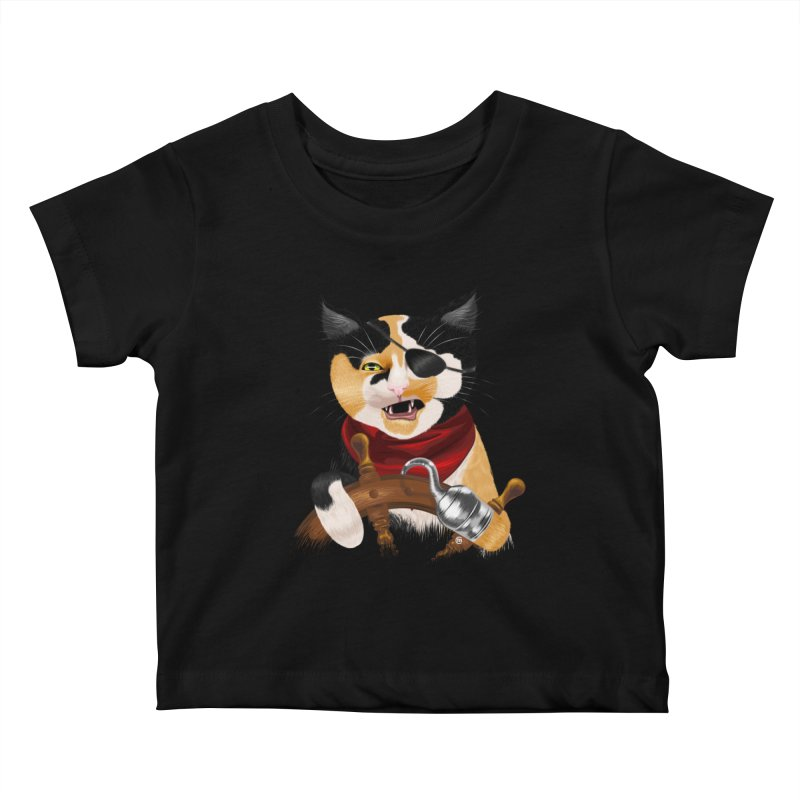 Purrrrate! Kids Baby T-Shirt by cmatthesart's Artist Shop