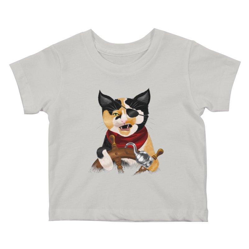 Purrrrate! Kids Baby T-Shirt by cmatthesart's Artist Shop