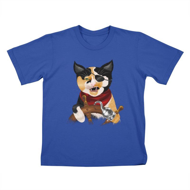 Purrrrate! Kids T-shirt by cmatthesart's Artist Shop