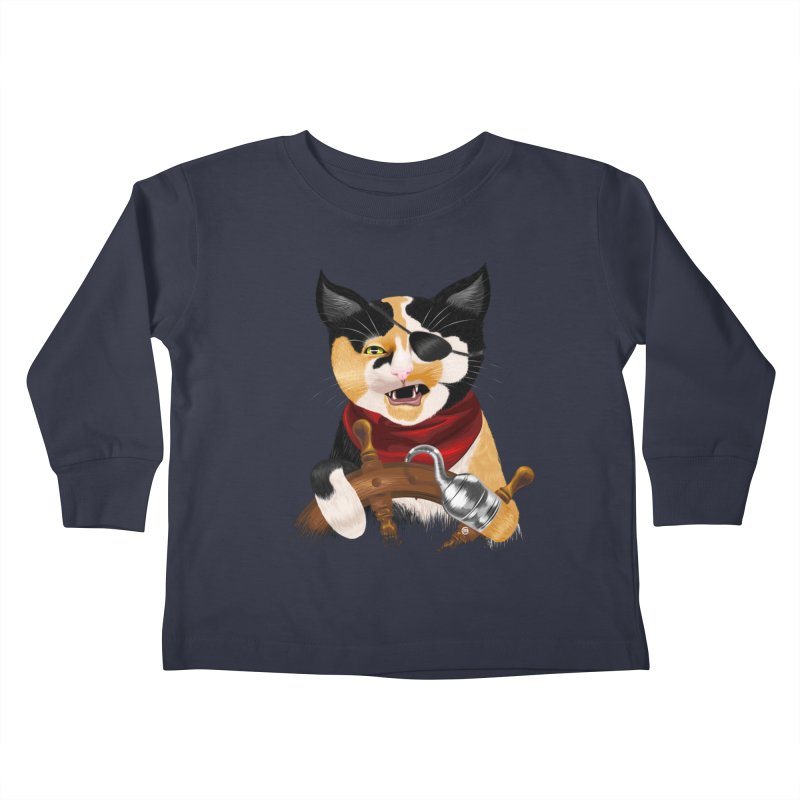 Purrrrate! Kids Toddler Longsleeve T-Shirt by cmatthesart's Artist Shop