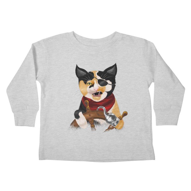 Purrrrate! Kids Toddler Longsleeve T-Shirt by cmatthesart's Artist Shop