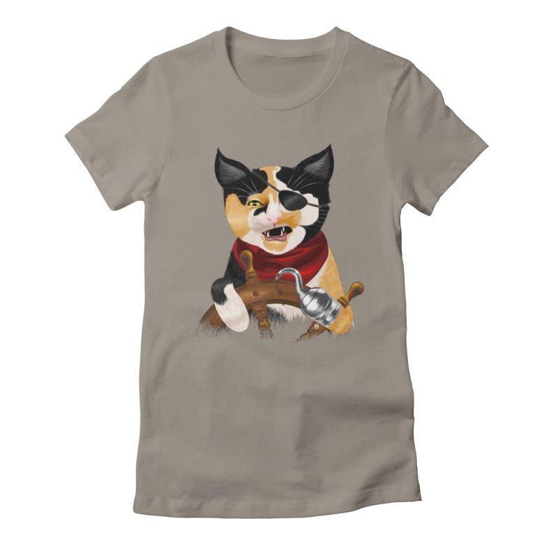 Purrrrate! Women's Fitted T-Shirt by cmatthesart's Artist Shop