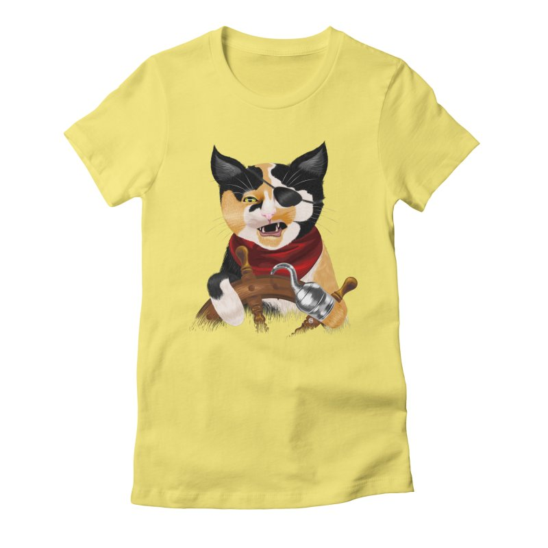Purrrrate! Women's Fitted T-Shirt by cmatthesart's Artist Shop