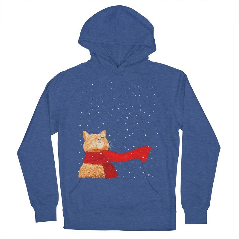 Tabby loves Snow Women's Pullover Hoody by cmatthesart's Artist Shop