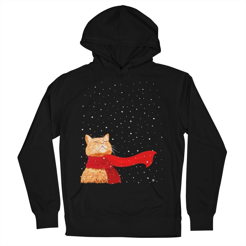 Tabby loves Snow Women's Pullover Hoody by cmatthesart's Artist Shop