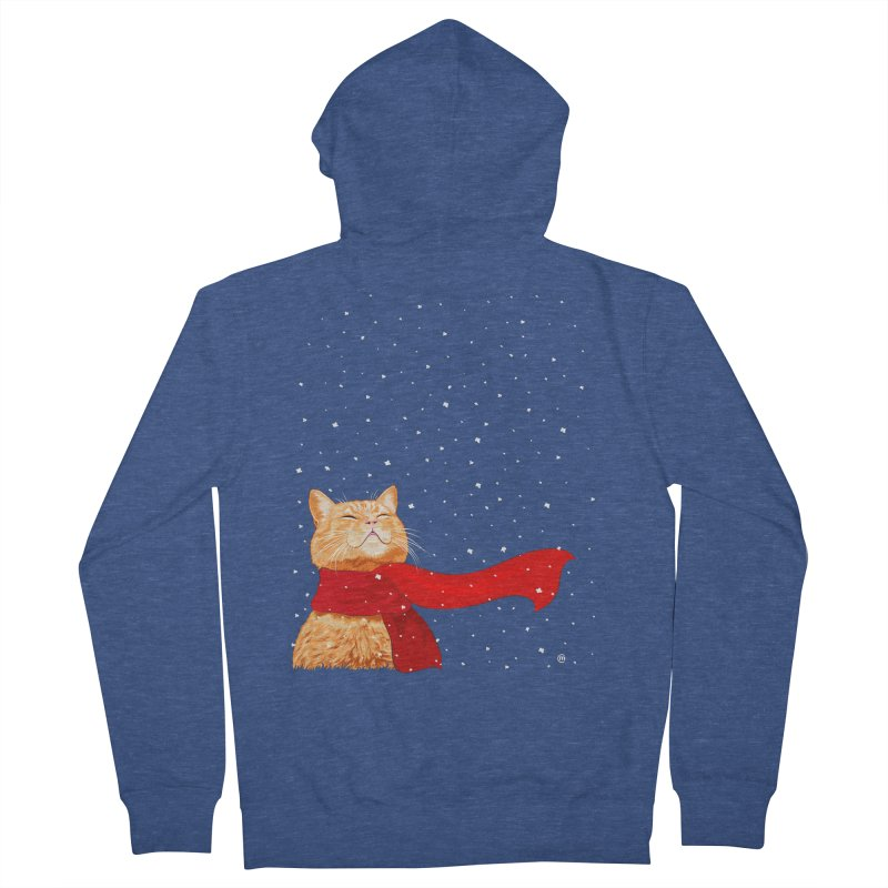 Tabby loves Snow Men's Zip-Up Hoody by cmatthesart's Artist Shop