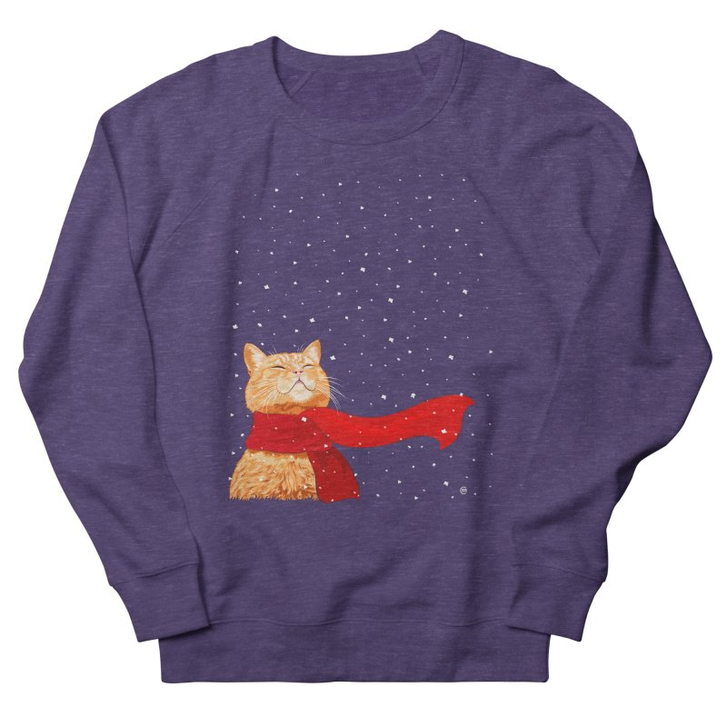Tabby loves Snow Women's Sweatshirt by cmatthesart's Artist Shop