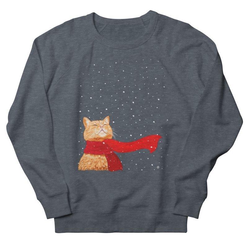 Tabby loves Snow Women's Sweatshirt by cmatthesart's Artist Shop