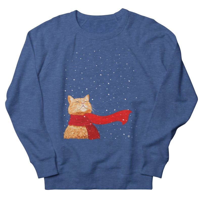 Tabby loves Snow Men's Sweatshirt by cmatthesart's Artist Shop