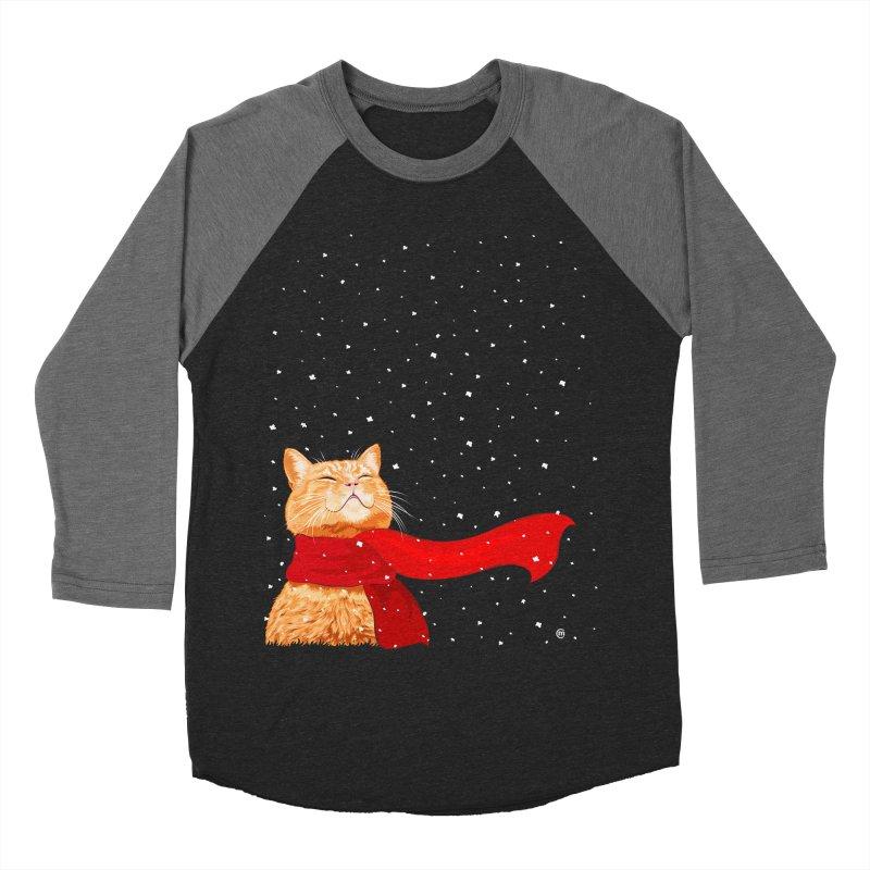 Tabby loves Snow Women's Baseball Triblend T-Shirt by cmatthesart's Artist Shop