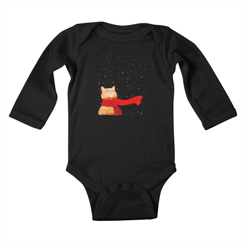 Tabby loves Snow Kids Baby Longsleeve Bodysuit by cmatthesart's Artist Shop