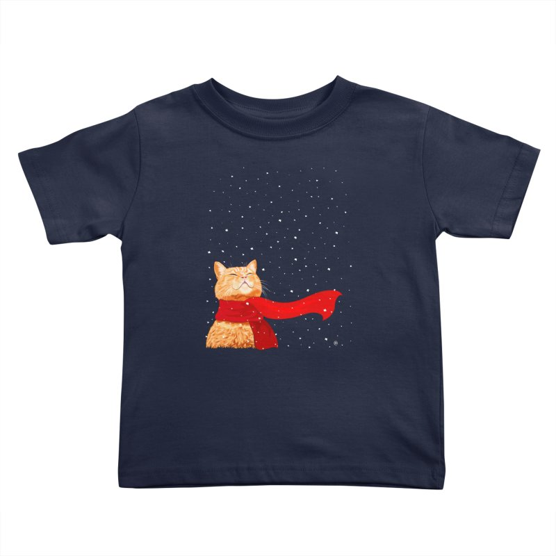 Tabby loves Snow Kids Toddler T-Shirt by cmatthesart's Artist Shop