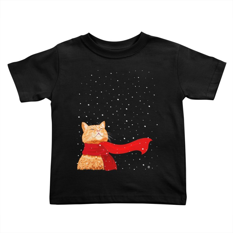 Tabby loves Snow Kids Toddler T-Shirt by cmatthesart's Artist Shop
