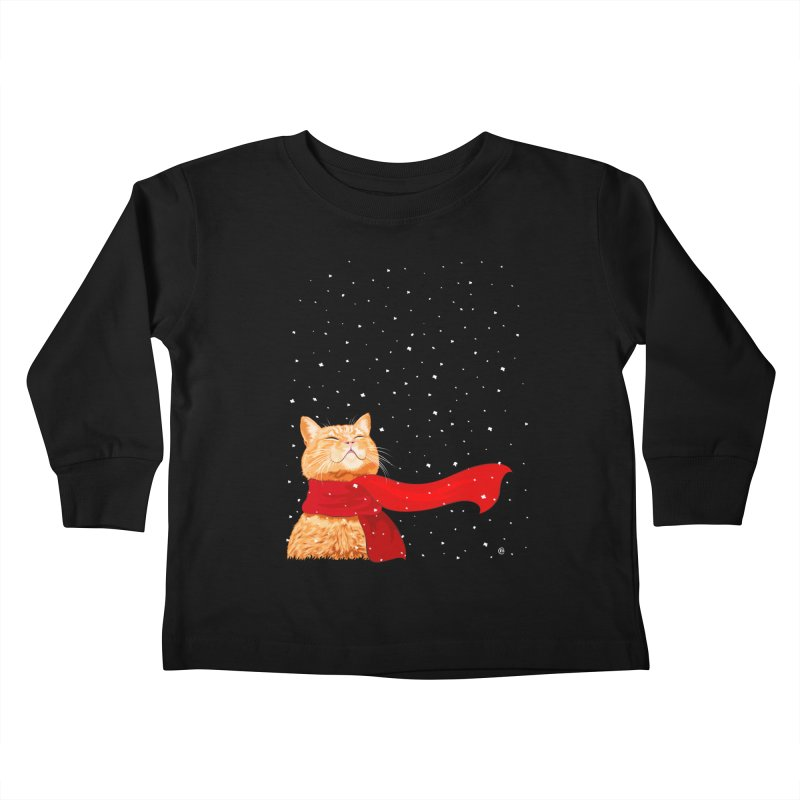 Tabby loves Snow Kids Toddler Longsleeve T-Shirt by cmatthesart's Artist Shop