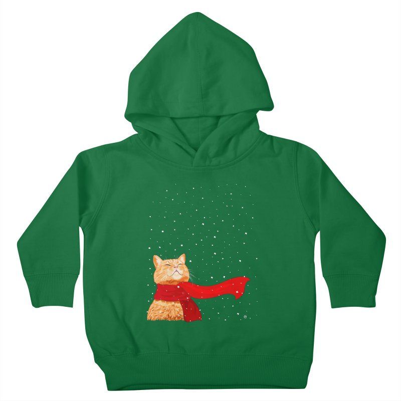 Tabby loves Snow Kids Toddler Pullover Hoody by cmatthesart's Artist Shop