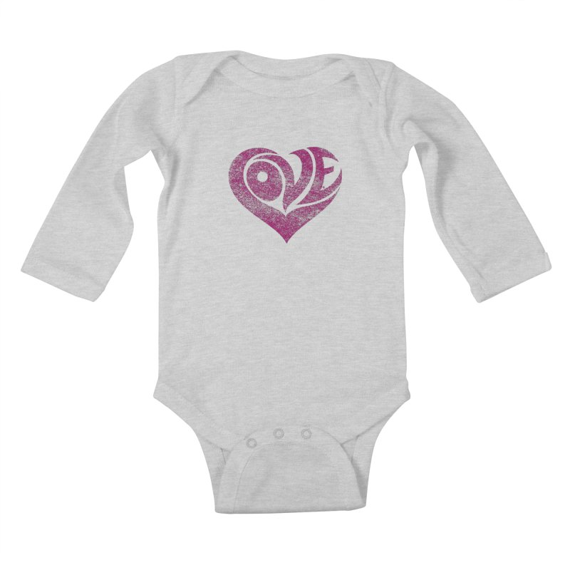 Love Kids Baby Longsleeve Bodysuit by cmatthesart's Artist Shop