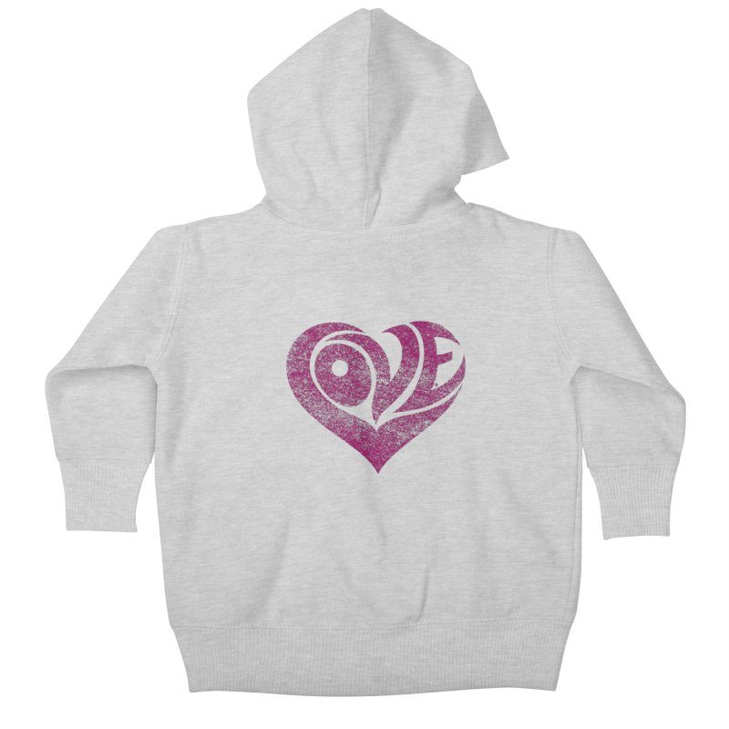 Love Kids Baby Zip-Up Hoody by cmatthesart's Artist Shop