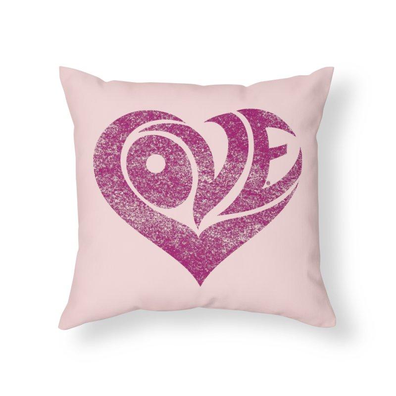 Love Home Throw Pillow by cmatthesart's Artist Shop