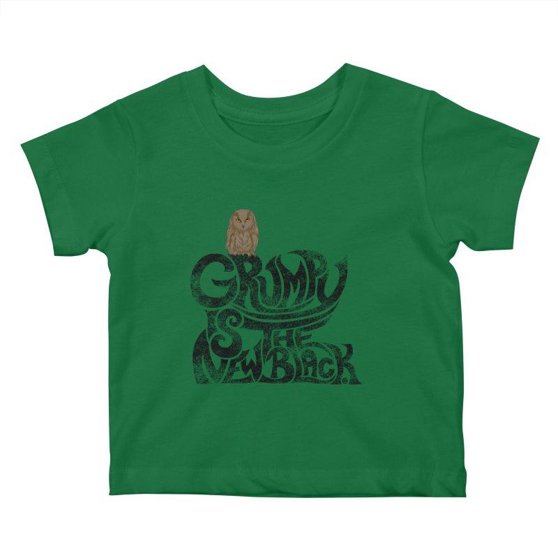 Grumpy is the new Black Kids Baby T-Shirt by cmatthesart's Artist Shop