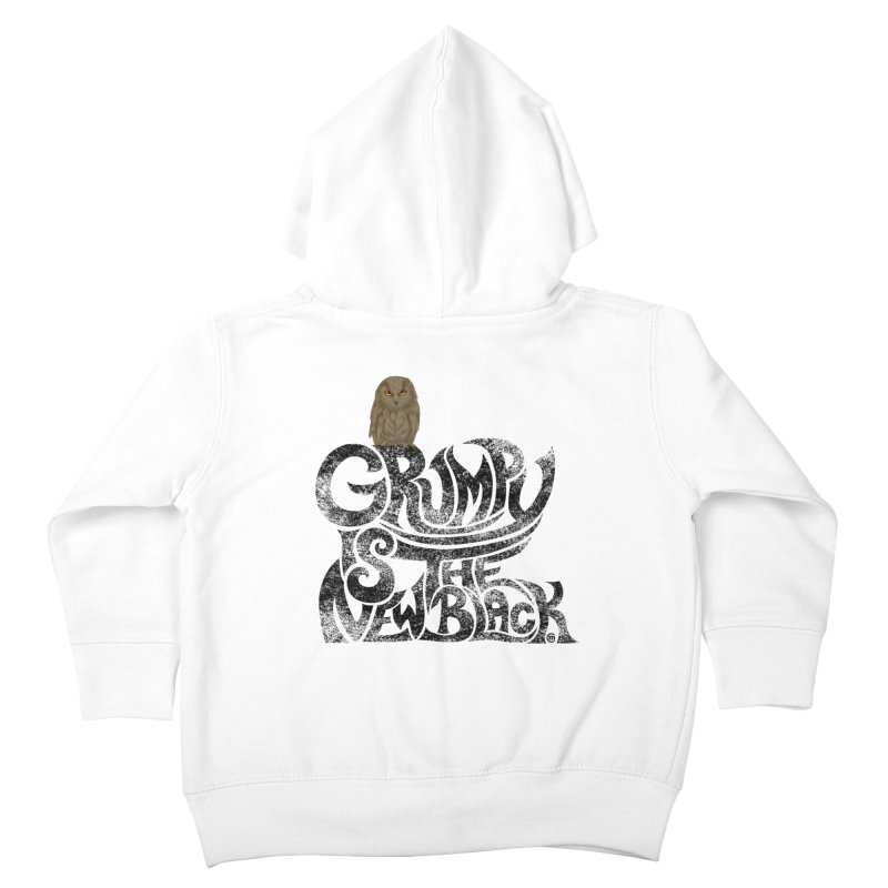 Grumpy is the new Black Kids Toddler Zip-Up Hoody by cmatthesart's Artist Shop