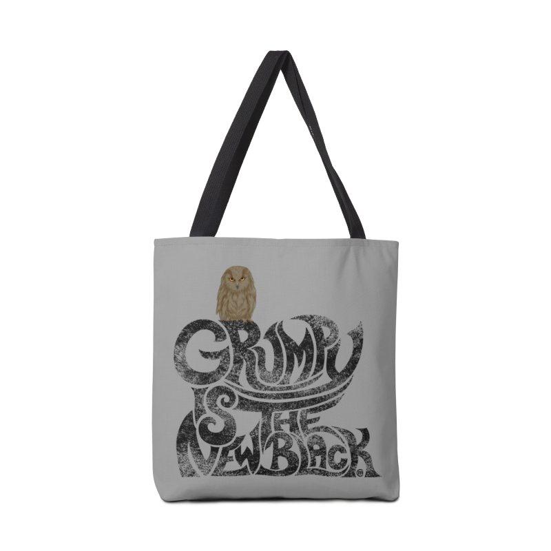 Grumpy is the new Black Accessories Bag by cmatthesart's Artist Shop