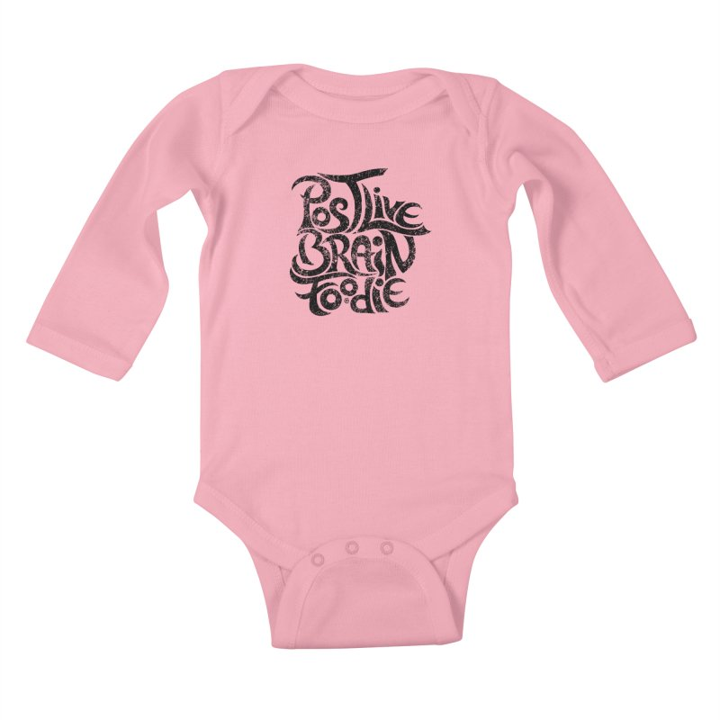 Post Live Brain Foodie Kids Baby Longsleeve Bodysuit by cmatthesart's Artist Shop