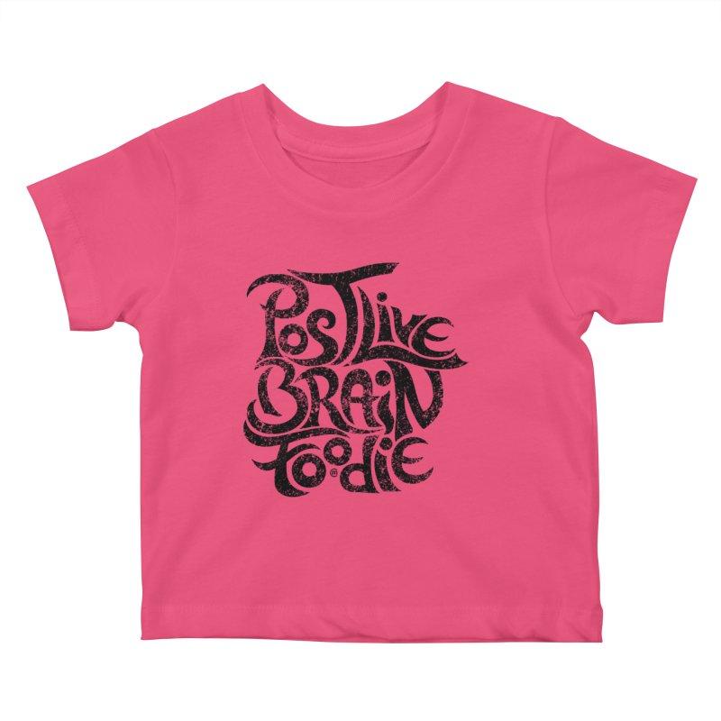 Post Live Brain Foodie Kids Baby T-Shirt by cmatthesart's Artist Shop
