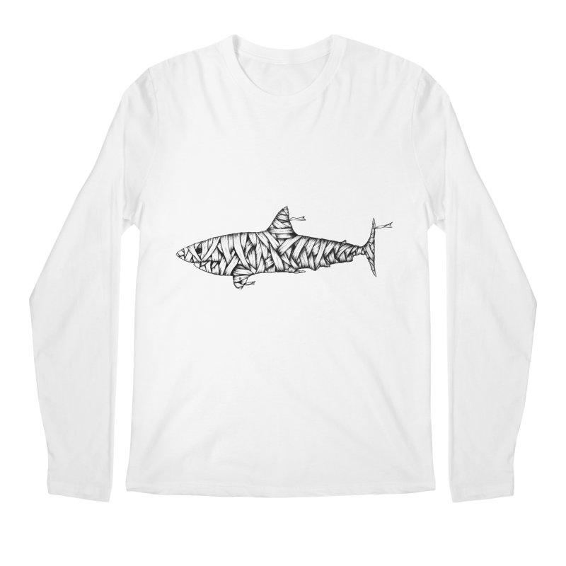 Mummy Shark Men's Regular Longsleeve T-Shirt by cmatthesart's Artist Shop