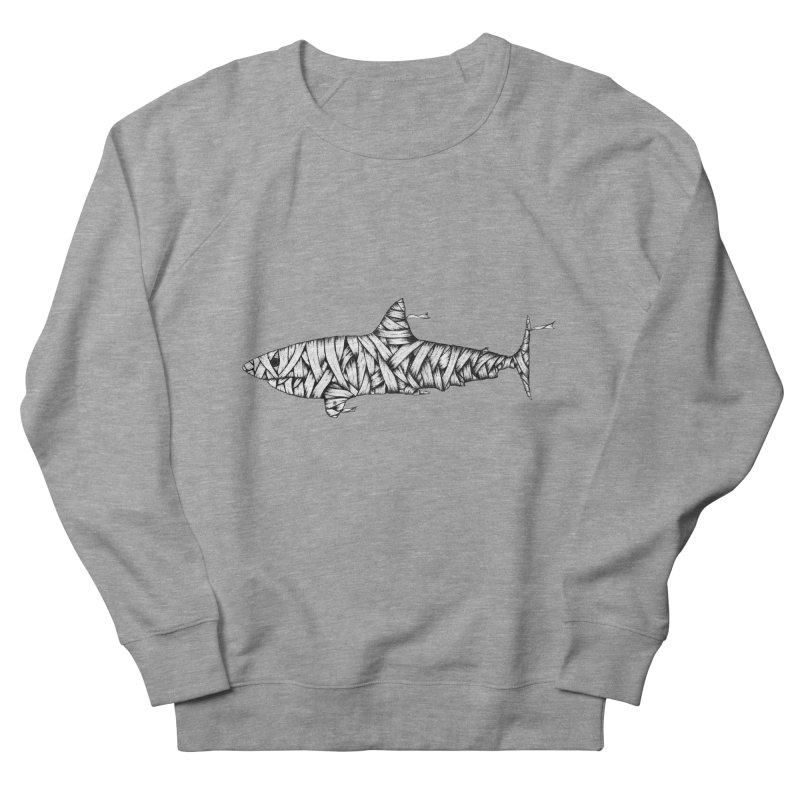 Mummy Shark Men's French Terry Sweatshirt by cmatthesart's Artist Shop