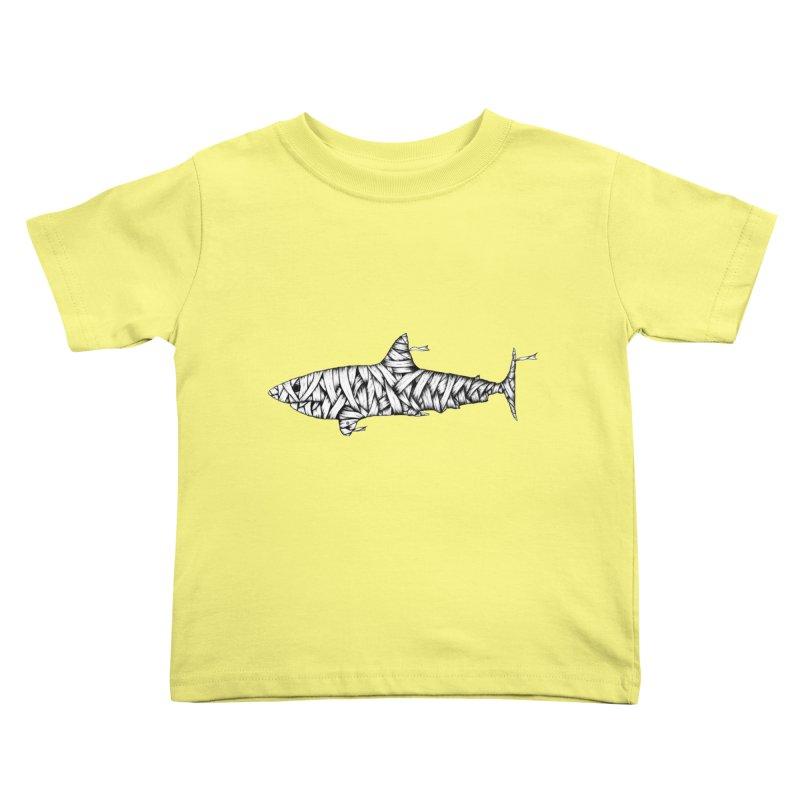 Mummy Shark Kids Toddler T-Shirt by cmatthesart's Artist Shop
