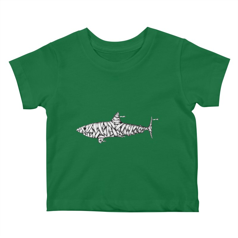 Mummy Shark Kids Baby T-Shirt by cmatthesart's Artist Shop