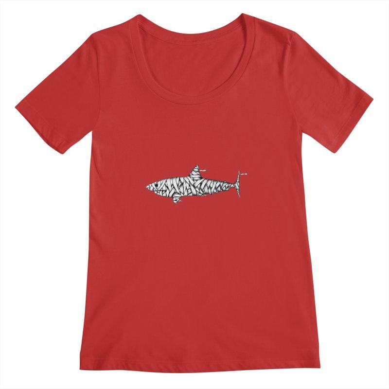 Mummy Shark Women's Regular Scoop Neck by cmatthesart's Artist Shop